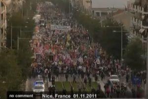 2011.11.01 G20を前にフランスで大規模な抗議デモ