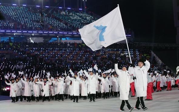 平昌冬季五輪・南北統一選手団
