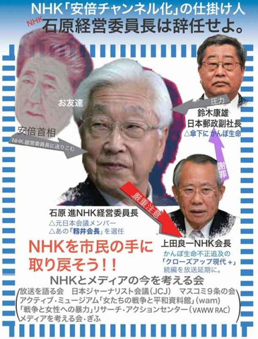 放送法違反を繰り返す森下NHK経営委員長は辞任せよ