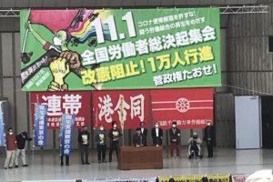 2020.11.01 全国労働者総決起集会にちょこっとだけ参加
