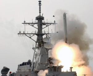 洋上発射型トマホークミサイル