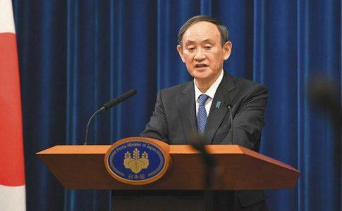 緊急事態宣言の再発令後、記者会見する菅首相(2021.01.07)