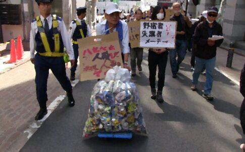 空き缶回収は野宿者の命をつなぐ仕事
