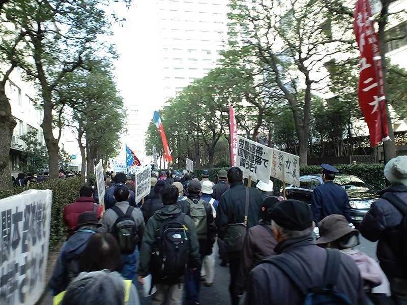 2・4 天神峰現闘本部裁判 東京高裁包囲デモ 10