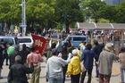 名古屋・外国人排斥デモへのカウンター情宣(7