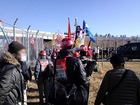 反対同盟 新年デモ・団結旗開き 09