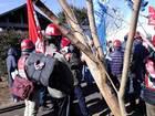 反対同盟 新年デモ・団結旗開き 24
